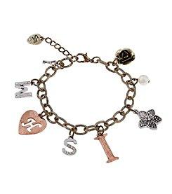 Sandra Magsamen® Tri Tone Wish Charm Bracelet