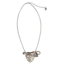 Sandra Magsamen® Two Tone Charmy Hearts Necklace
