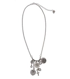 Sandra Magsamen® Silvertone Charmy Coins Necklace