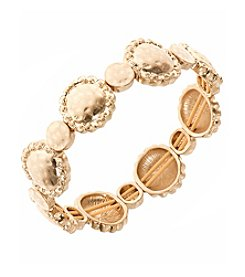 Nine West Vintage America Collection® Worn Goldtone Stretch Bracelet