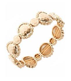 Nine West Vintage America Collection® Worn Goldtone Stretch Bracelet