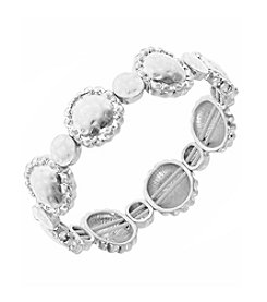 Nine West Vintage America Collection® Worn Silvertone Stretch Bracelet