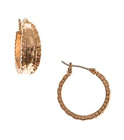 Nine West Vintage America Collection® Worn Goldtone Small Hoop Earrings