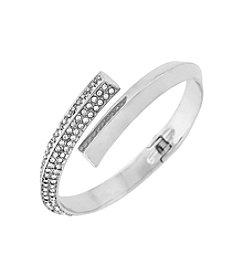 BCBGeneration™ Silvertone Triangle Wire Bracelet