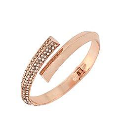BCBGeneration™ Rose Goldtone Triangle Wire Bracelet