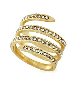 BCBGeneration™ Goldtone Jet Coil Ring