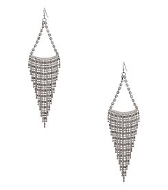 Erica Lyons® Silvertone Swag Chandelier Pierced Earrings