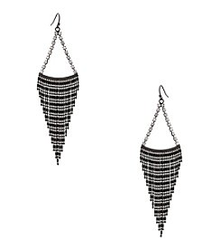 Erica Lyons® Hematite Tone Swag Chandelier Pierced Earrings