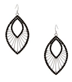 Erica Lyons® Silvertone Teardrop With Spokes Pierced Earrings