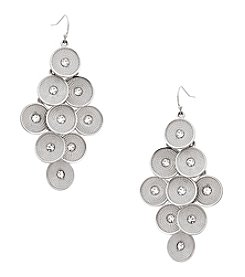 Erica Lyons® Silvertone Kite Pierced Earrings