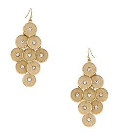 Erica Lyons® Goldtone Kite Pierced Earrings
