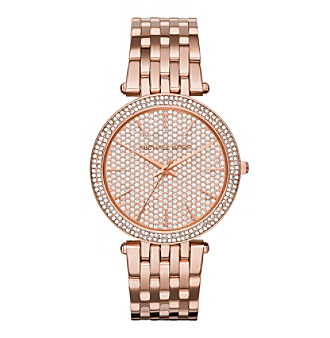Michael Kors® Women's Rose Goldtone Darci Watch With Pav