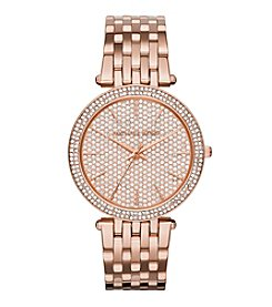 Michael Kors® Women's Rose Goldtone Darci Watch With Pave Dial