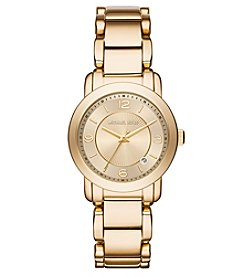 Michael Kors® Women's Goldtone Janey Watch with Champagne Dial
