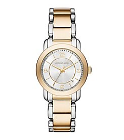 Michael Kors® Womens Two-Tone Janey Watch With Silver Dial