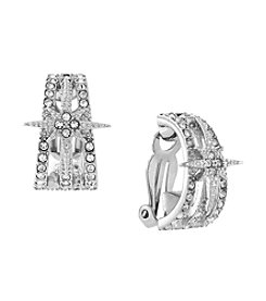 Vince Camuto™ Silvertone Clip Earrings
