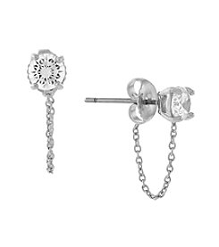 Vince Camuto™ Silvertone Stud Earrings
