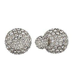 Anne Klein® Silvertone Fireball Earrings