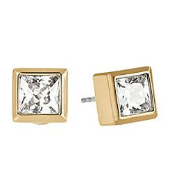 Michael Kors® Goldtone Clear Park Avenue Earrings