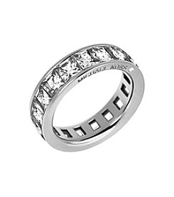 Michael Kors® Silvertone Clear Park Avenue Ring
