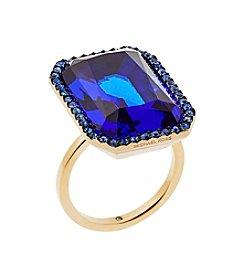Michael Kors® Goldtone Blue Parisian Jewels  Ring