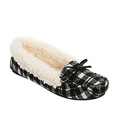 Dearfoams Mixed Material Moccasin Slippers