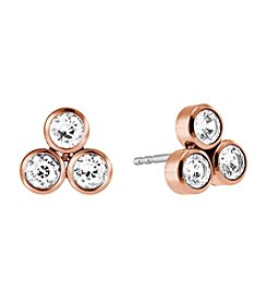 Michael Kors® Rose Goldtone Clear Park Avenue  Earrings