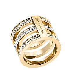 Michael Kors® Goldtone Clear Park Avenue Ring