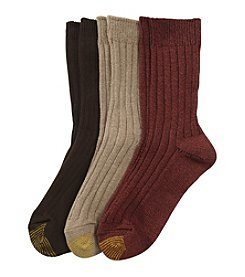 GOLD TOE® Weekend Crew Socks - 3 Pk.