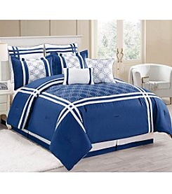 HomeChoice Geometric Cool Blues 8-pc. Comforter Set