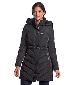 Ivanka Trump® Three-Quarter Chevron Quilted Coat
