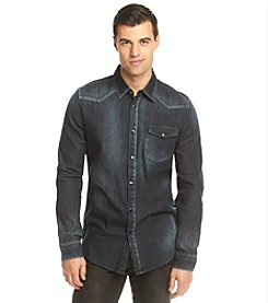 Calvin Klein Jeans® Men's Long Sleeve Western Button Down Shirt