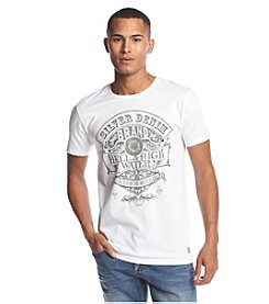 Silver Jeans Co. Men's Short Sleeve White Graphic Tee