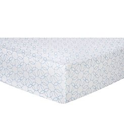 Trend Lab Circles Flannel Crib Sheet