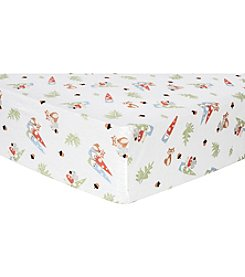 Trend Lab Forest Gnomes Flannel Crib Sheet