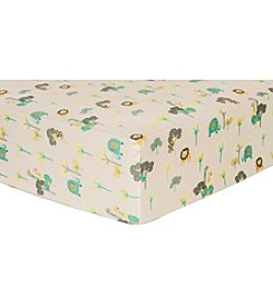 Trend Lab Lullaby Jungle Flannel Crib Sheet