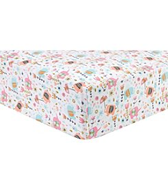 Trend Lab Playful Elephants Flannel Crib Sheet