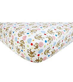 Trend Lab Monkeys Flannel Crib Sheet