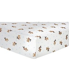 Trend Lab Reindeer Flannel Crib Sheet