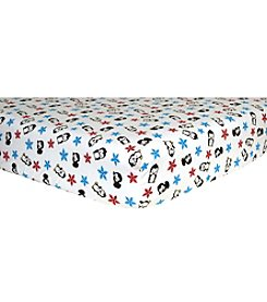 Trend Lab Penguins Flannel Crib Sheet