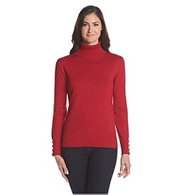 Cable & Gauge® Solid Turtleneck