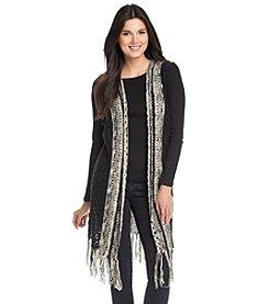 Fever™ Fringe Knit Vest