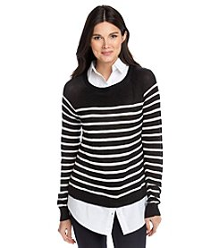 Fever™ Striped Layered Look Sweater