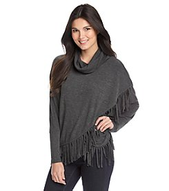 Chelsea & Theodore® Cowlneck Fringe Sweater