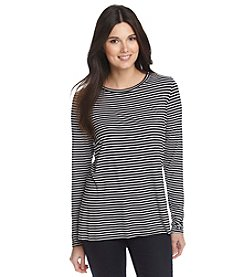 Olivia Sky Striped High Low Tee
