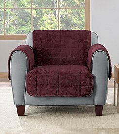 Sure Fit® Faux Fur Reversible Chair Slipcover