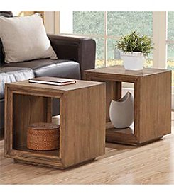 Riverside® Driftwood Cube Table