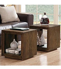Riverside® Casual Walnut Cube Table