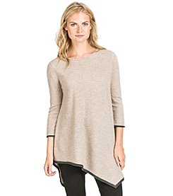 PLY Cashmere® Jersey Scoop Neck Handkerchief Tunic
