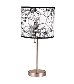 Ore International™ Floral Print Steel Table Lamp